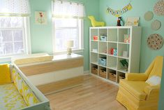 Baby Nursery -love the clours
