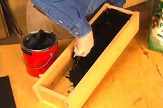 How to Waterproof the Inside of a Wood Planter Box • Ron Hazelton Online • DIY Ideas & Projects. A must to do...