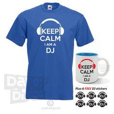 Keep calm I'm a DJ T-SHIRT and MUG set with free by davesdisco