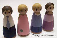 Serving Pink Lemonade: Little Wooden Dolls