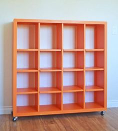 4x4 Rolling Cube Shelf - Adjustable Shelves -- DIY free plans