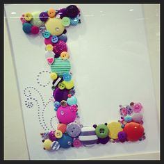 brads, buttons and bling - cute for a girl's room