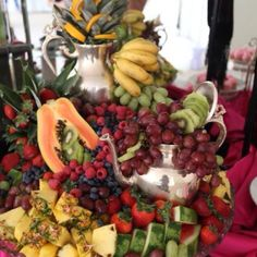 TUC fruit display for The Royal Princess Foundation by Teresa Miller