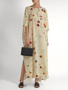 Abstract-print silk smock dress | Mafalda Von Hessen | MATCHESFASHION.COM