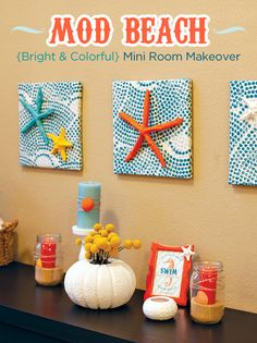 baby room themes  beachy | ... DIY > DIY & Downloads > {Semi-DIY} Spring Decorating: Modern Beach Pop