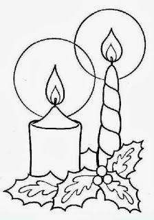 Decorazioni Di Natale Disegni.Sauvage27 Candele Di Natale Disegni Da Colorare Candles Of