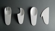 "thedsgnblog:  Anna Makowska   |   http://behance.net/makowska ""Disposable cutlery was made out of a simple yet effective plastic design for a liquid and solid meal. It is highlights are its simple shapes and cost efficiency ,while retaining its attractiveness for the consumer."" Graphic and product designer based in Wroclaw, Poland. Focused on graphic design, branding and packaging. the design blog:  facebook 