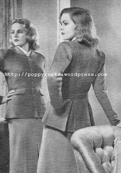 The Vintage Pattern Files: 1940's Knitting - April Jacket