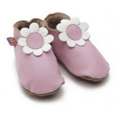Daisy Baby Pink Soft Leather Baby Shoes Made and supplied by Star Child Shoes in #Leicestershire - £18.00