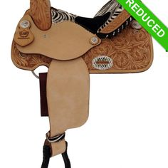 Alamo Zebra Barrel Racing Saddle 1