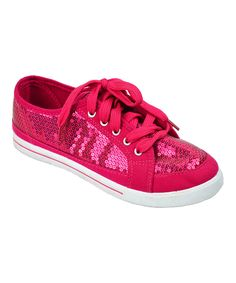 Another great find on #zulily! Double S Brothers Hot Pink Sequin Sneaker by Double S Brothers #zulilyfinds