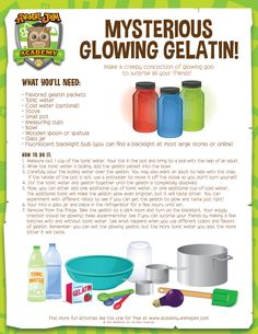 Night of the Phantoms is here! Which means it's time for some SPOOKY SCIENCE! Get started by making some Mysterious Glowing Gelatin with this free download from Animal Jam Academy! Have fun and PLAY WILD!