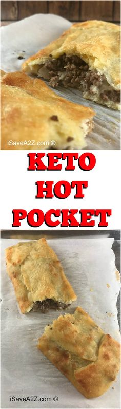 Keto Hot Pocket Dough Recipe cup Mozzarella cheese 5 tbs Butter (I love me some Kerrygold butter! Keto Foods, Ketogenic Recipes, Keto Snacks, Low Carb Recipes, Diet Recipes, Cooking Recipes, Healthy Recipes, Ketogenic Diet, Ketogenic Breakfast