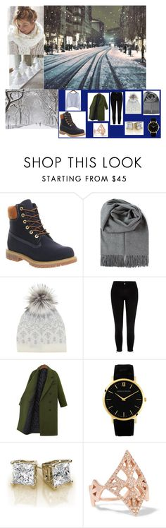 """winter"" by mani0809 ❤ liked on Polyvore featuring Timberland, Mint Velvet, River Island, Larsson & Jennings and Carbon & Hyde"