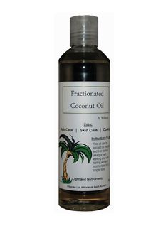 Fractionated Coconut Oil - for hair and skin care, but also for cooking.