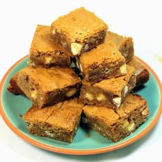 Inspired By eRecipeCards: Toffee Blondies (Buttery Soft EXTRA Chewy Brownies) - Church PotLuck Desserts