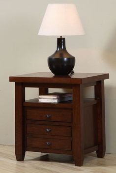 Walnut Cherry Navigator Side Table
