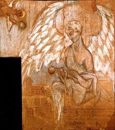 "Bethune Murals - Historic Saranac Lake - LocalWiki ""Sweet death, thou kindest… Saranac Lake, Bright Stars, Norman, Angel, Murals, Painting, Art, Glitter Stars, Craft Art"