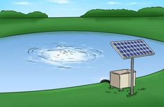 Pond Aerators and Complete Aeration Systems at Living Water Living Pool, Living Water, Koi Fish Pond, Fish Ponds, Swimming Ponds, Backyard Water Feature, Ponds Backyard, Backyard Ideas, Solar Pond