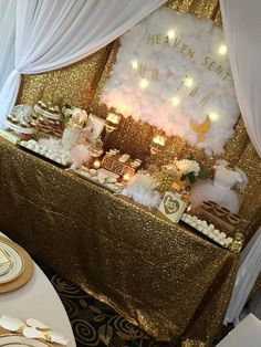 Heaven Sent Baby Shower Party Ideas   Photo 23 of 43