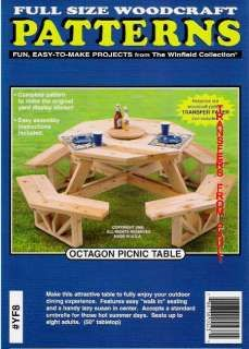 Octagon Picnic Table Woodcraft Woodworking Plan