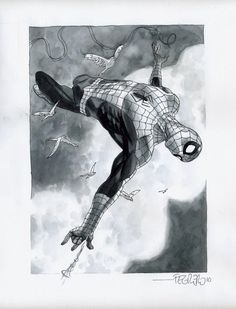 Spider-man: the awesome ink washed work of Duncan Fegredo — GeekDraw
