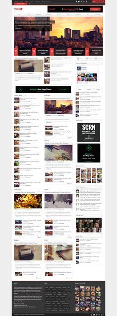 Voxis a Responsive News, Magazine Theme #wordpress #theme #website #template #responsive #design #webdesign #flat #flatdesign #magazine #blog