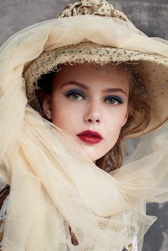 """Model Frida Gustavsson"" 2011, photo by American photographer ARTHUR ELGORT for Vogue USA"