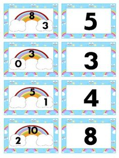 Missing Addends Rainbow Math Station and there's 4 worksheets too