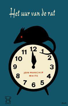 Book cover design by Dick Bruna, 1964. 'Het uur van de rat'(The hour of the rat) by Jon Manchip White.