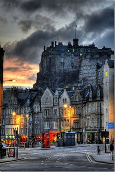 Grassmarket, Edinburgh - one of my hotels was here. I had a view of the castle from my window in 2008