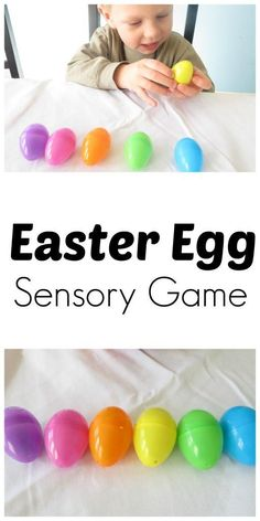 Easter Egg Sensory Game Challenge your kid's auditory sense and critical thinking skills in this simple game that takes 30 seconds to set up.