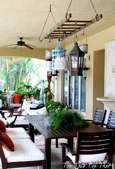 10 diy transformations, painted furniture, Stepping up the Patio via Top This Top That