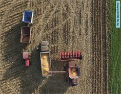 Harvesting in Woodford County, Illinois. Sky Ag photography & crop scouting. #agchat #illinoisagriculture #farm #farmillinois