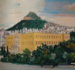 Αποψη Εθνικού Κήπου Ζαππείου (τρίπτυχο), 1978 detail 1