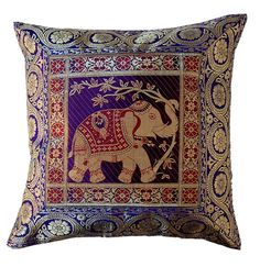 Cushion Covers    Elegant and luxurious Home Decor Bedding Cushion covers. This piece is expertly crafted using traditional methods. This Multicolor cushion covers is really beautiful home decor item that can brighten up room. This Cushion Covers into