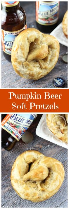 Salty and buttery classic soft pretzels, but these start with pumpkin beer as a base!!!