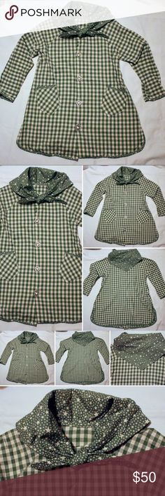 "Vintage Folk Dress Plaid Rustic Peasant Size 8-10 This is a very elegant ""Vintage Hand-made"" Girl's Dressy Special Occasion  Gorgeous Rustic Peasant Pageant Dress ~ Costume Folk Dress in Plaid Cotton Linen  Beautiful green plaid pattern * Size 8-10    A really adorable design for your lovely and beautiful young little princess to wear any season!!!! Handmade Dresses Casual"