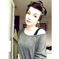 Bandana Hairstyle Ideas for Short Hair ❤ liked on Polyvore featuring hair and people
