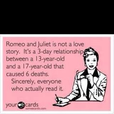 too true, but the romantic in me still loves the story