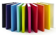 A rainbow of Poppin notebooks! mmmm.... #workhappy #colorlove