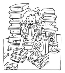 Boeken lezen. Colouring Pages, Kindergarten, Boys, Pictures, Teacher Stuff, Fictional Characters, Creative Writing, Free Coloring Pages, Creativity