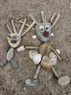Rezultat iskanja slik za land art for kids Kids Crafts, Preschool Crafts, Arts And Crafts, Art Et Nature, Nature Crafts, Forest School Activities, Activities For Kids, Beach Activities, Nature Activities