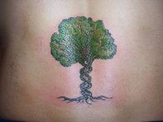 arbol, adn, molecular, biología, personas, tatuaje