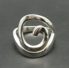 STERLING SILVER Ring Solid 925 Spiral by EmpressSilver