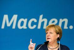 Das Ohr am Wähler: Kanzlerin Angela Merkel