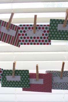 Quick + easy DIY activity advent calendar for Christmas