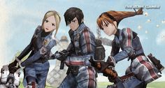 Vyse and Aika's cameo in Valkyria Chronicles PC |TheZonegamer