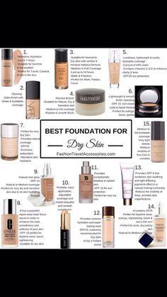 best foundations for dry skin:) #Beauty #Trusper #Tip