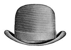 Vintage Clip Art - Men's Hats - Derby & Top Hat - The Graphics Fairy